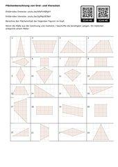 Arbeitsblatt Flächeninhalt Vierecke und Dreiecke