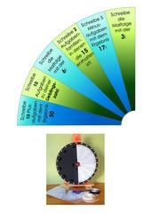 Glücksrad - Aufträge im Zahlenraum 100 - Klasse 2