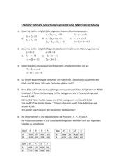 lineare Gleichungssysteme und Matrizenrechnung