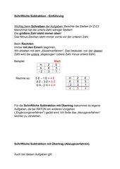 Einführung Schriftliche Subtraktion (Abzugsverf.)