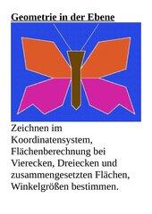Schmetterling im KOS - Geometrie in der Ebene