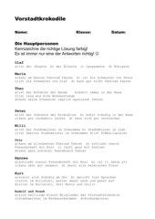 Vorstadtkrokodile - Hauptpersonen