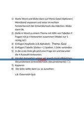 Quiz in Word erstellen