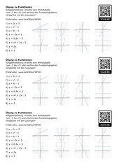 Funktionen: Wertetabelle aufstellen und Graph der Funktion zeichnen