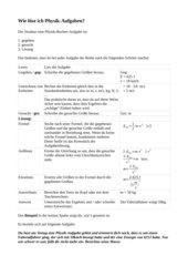 Physik-Aufgaben lösen