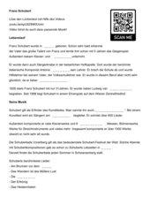 Lückentext Schubert