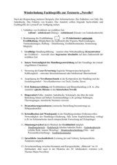 Fachbegriffe zur Textsorte Novelle