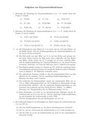 Aufgaben zur Exponentialfunktion
