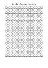 Punktefelder zum Erarbeiten des kleinen 1x1
