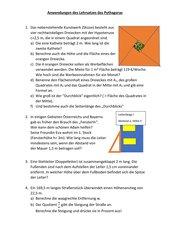 Anwendungen des Lehrsatzes des Pythagoras