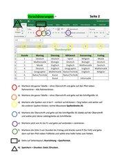 Stundenplan mit Excel selbst erstellen