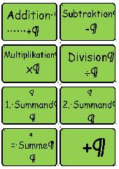 Memospiel zu den Grundbegriffen der Mathematik