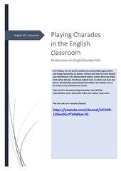 Pantomime / Charades im Englischunterricht
