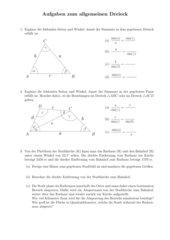 Aufgaben zum allgemeinen Dreieck