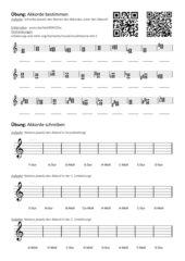 Übungen zu Akkorden (Dur - Moll)