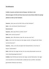 Die Reifenpanne Dialog Mann und Frau