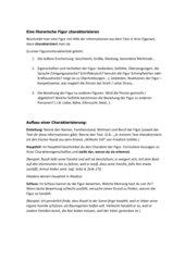 Arbeitsblatt zur Personencharakterisierung (Jg 8)
