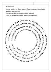 Leseübungsblatt zur Fibel 'Mimi die Lesemaus' Bayern - ab Ee