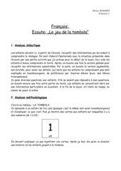 Français- Ecoute - Le jeu de la tombola