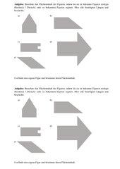 Flächeninhalt zusammengesetzter Figuren (Rechteck und Dreieck)
