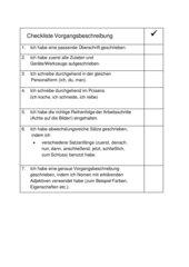 Checkliste Vorgangsbeschreibung