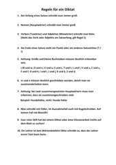 Regeln für ein Diktat