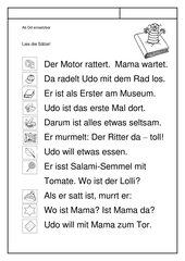 Leseübungsblatt zur Fibel 'Mimi die Lesemaus' Bayern ab Dd - Geschichte