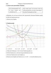 Übungen Exponentialfunktionen