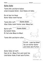 Kater Koko  (einfacher Lesetext)