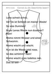 Leseübungsblatt zur Fibel 'Mimi die Lesemaus' Bayern ab Ei ei  -   Geschichte
