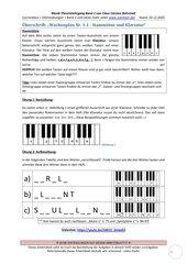 Stammtöne und Klaviatur 1.1 Arbeitsblatt+Lösung+Erklärvideo