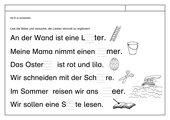 Leseübungsblatt zur Fibel 'Mimi die Lesemaus' Bayern ab Ei ei einsetzbar
