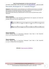 Gemischte Übungen 1.9 Violin-und Bassschlüssel Arbeitsblatt+Lösung+Erklärvideo