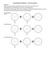 Addition v. Bruchzahlen (Kl.6)