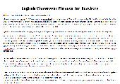English Classroom Phrases for Teachers