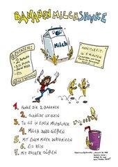 Rezept: Bananenmilchshake (Comic)