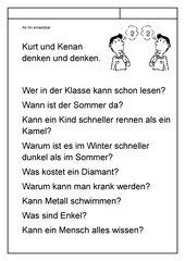 Leseübungsblatt zur Fibel 'Mimi die Lesemaus' Bayern ab Kk (nk) einsetzbar - Fragen beantworten