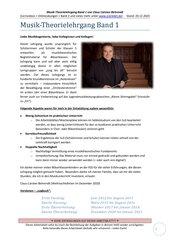 Musiktheorielehrgang Band 1 Komplettausgabe mit Lösungen