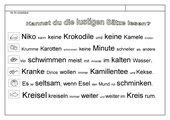 Leseübungsblatt zur Fibel 'Mimi die Lesemaus' Bayern ab Kk einsetzbar - lustige Sätze