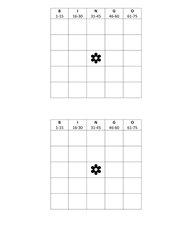 Bingo 1-75 Blanko-Vorlage