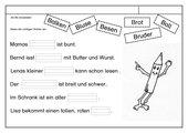 Leseübungsblatt zur Fibel 'Mimi die Lesemaus' Bayern ab Bb einsetzbar - Lückensätze