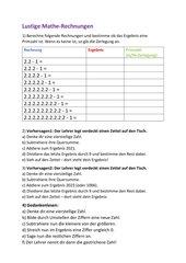 Lustige Mathe-Rechnungen