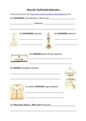 Was die Taufrituale bedeuten