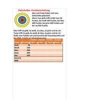 Zielscheibe- Punkteverteilung- Excel