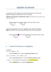 Adjektiv & Adverb Englisch