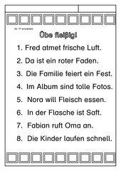Leseübungsblatt zur Fibel 'Mimi die Lesemaus' Bayern - ab Ff einsetzbar - einfache Sätze lesen