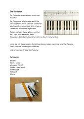 Eine Klaviertastatur aus Pappe
