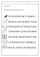 Leseübungsblatt zur Fibel 'Mimi die Lesemaus' Bayern - ab Ff einsetzbar - Wörtersuche