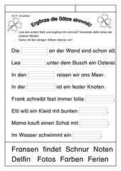 Leseübungsblatt zur Fibel 'Mimi die Lesemaus' Bayern - ab Ff einsetzbar - ergänzend