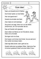 Leseübungsblatt zur Fibel 'Mimi die Lesemaus' Bayern - ab Gg einsetzbar - Eine Geschichte lesen